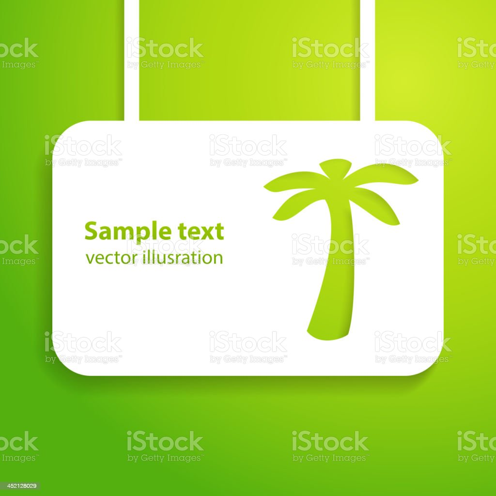 Tropical background with palm trees. Vector illustration. royalty-free stock vector art