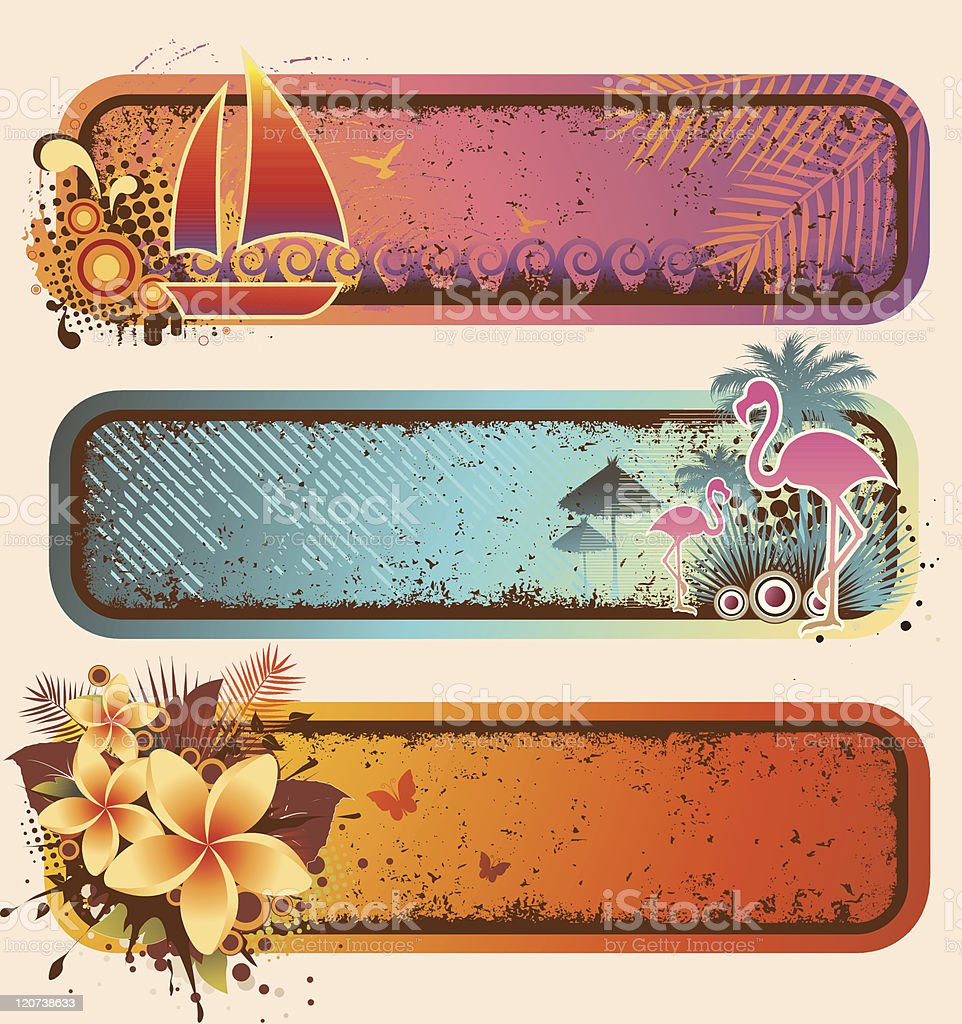 Tropical Banners Set royalty-free stock vector art