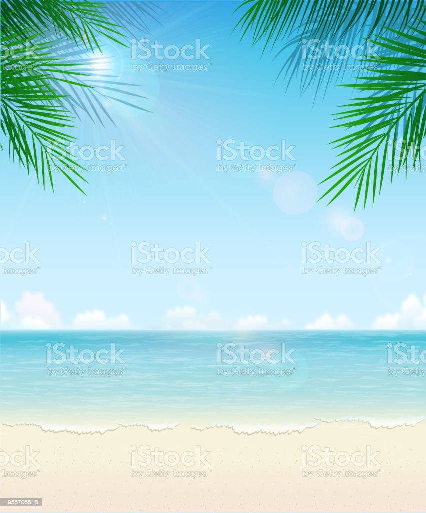 tropical beach background stock vector art & more images of