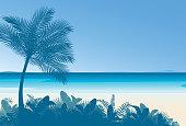 Vector Tropical Beach Backgrounds