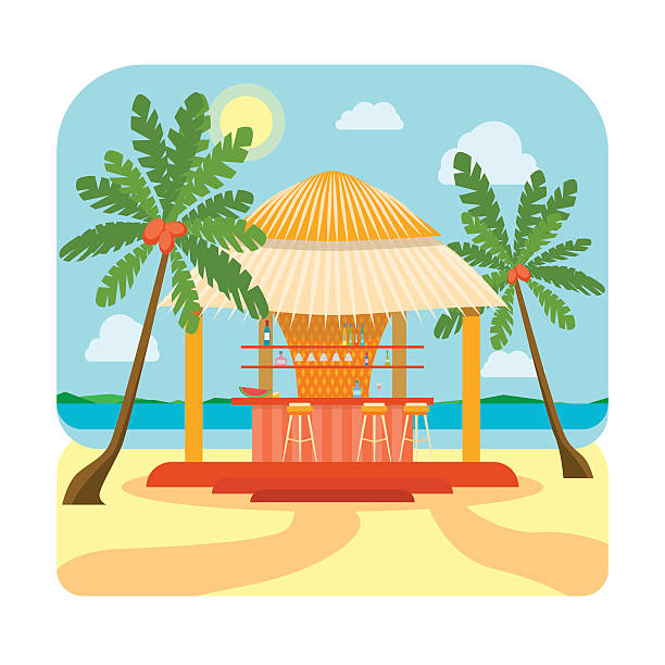 Royalty Free Tropical Hut Clip Art, Vector Images