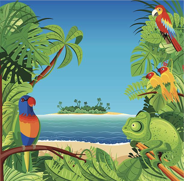 Best Island Cartoon Desert Island Tropical Climate ...