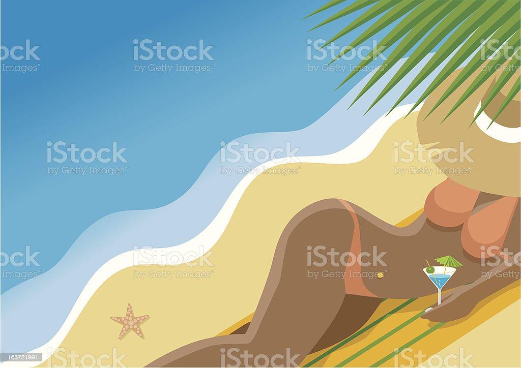 Tropical Beach vector art illustration