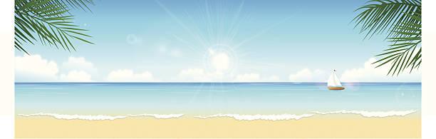 ilustraciones, imágenes clip art, dibujos animados e iconos de stock de playa tropical - playa
