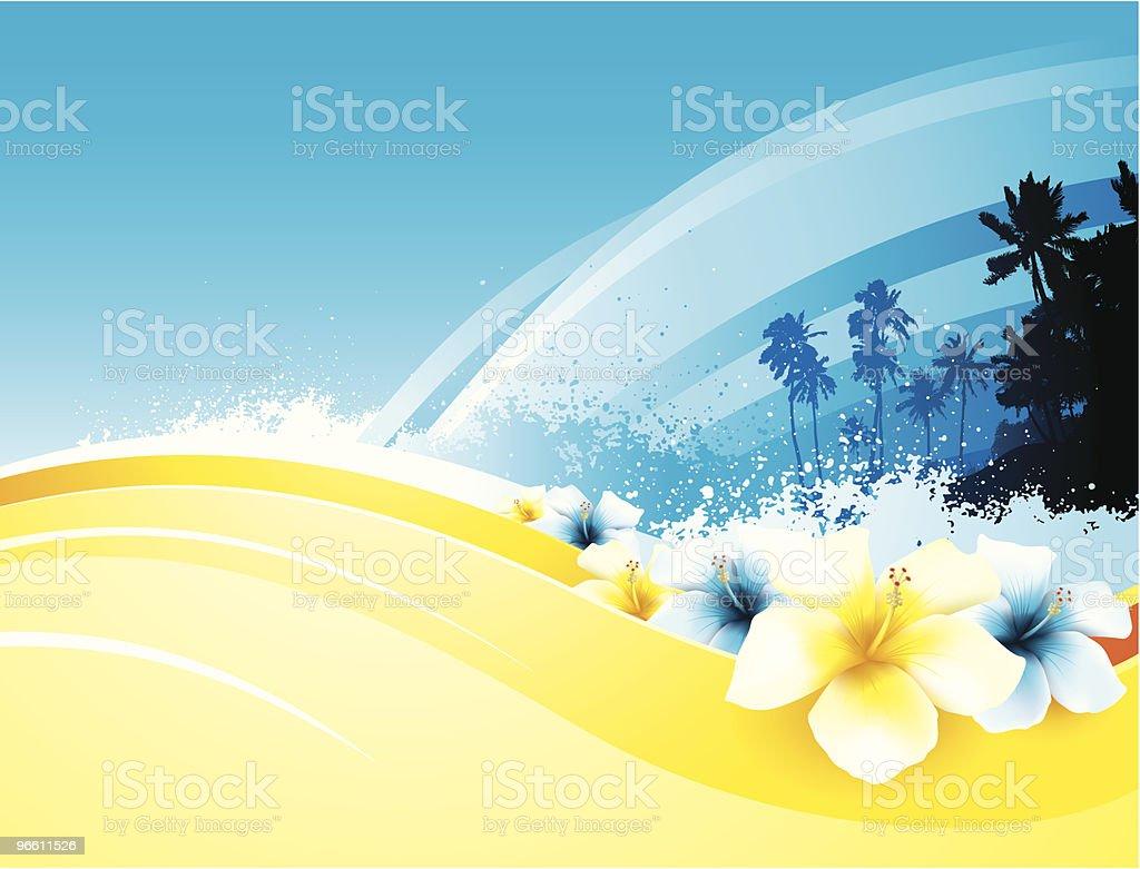 Tropical beach - Royaltyfri Bildbakgrund vektorgrafik