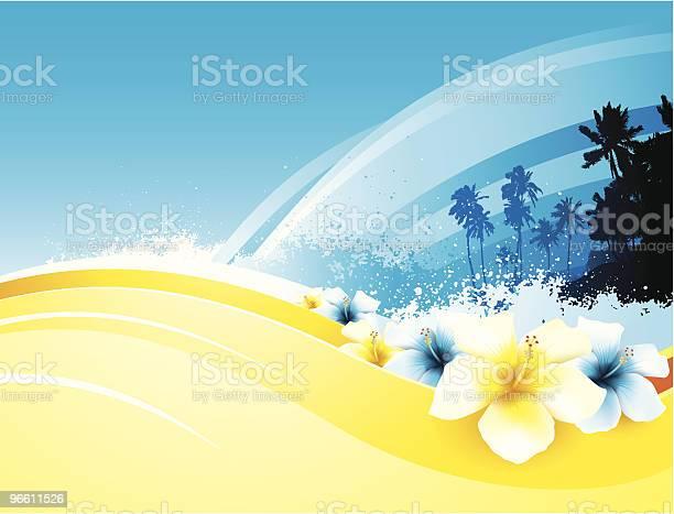 Tropical Beach-vektorgrafik och fler bilder på Bildbakgrund