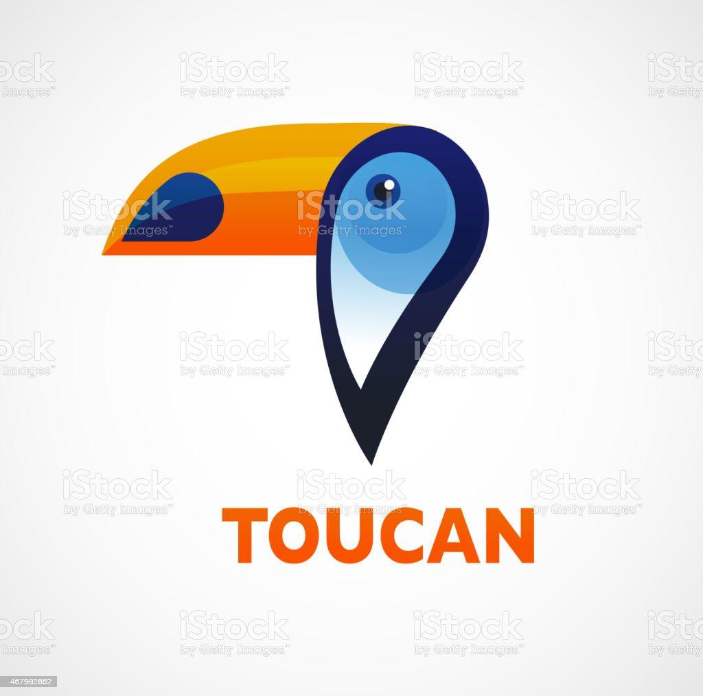 Tropical bird, vector toucan vector art illustration