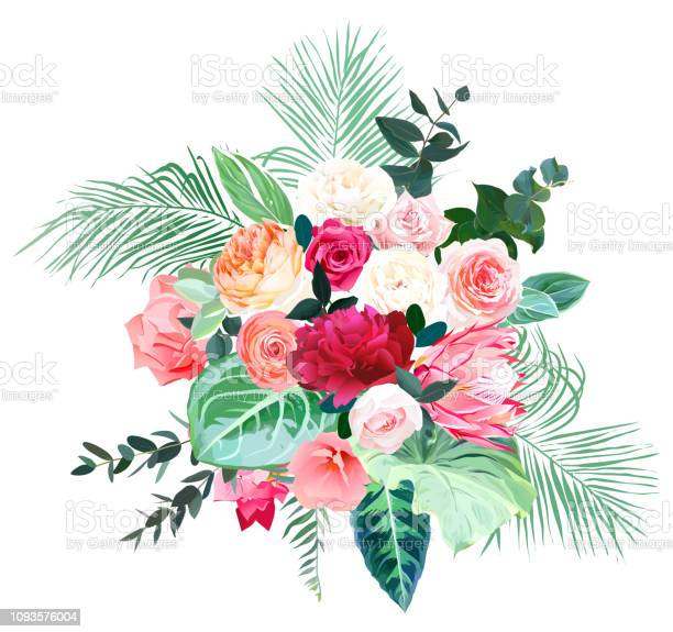Tropical bold color wedding vector design bouquet vector id1093576004?b=1&k=6&m=1093576004&s=612x612&h=snwd9z93qgxmxb1kbvgi3xudgddz7fxtklnpmmsb4zs=