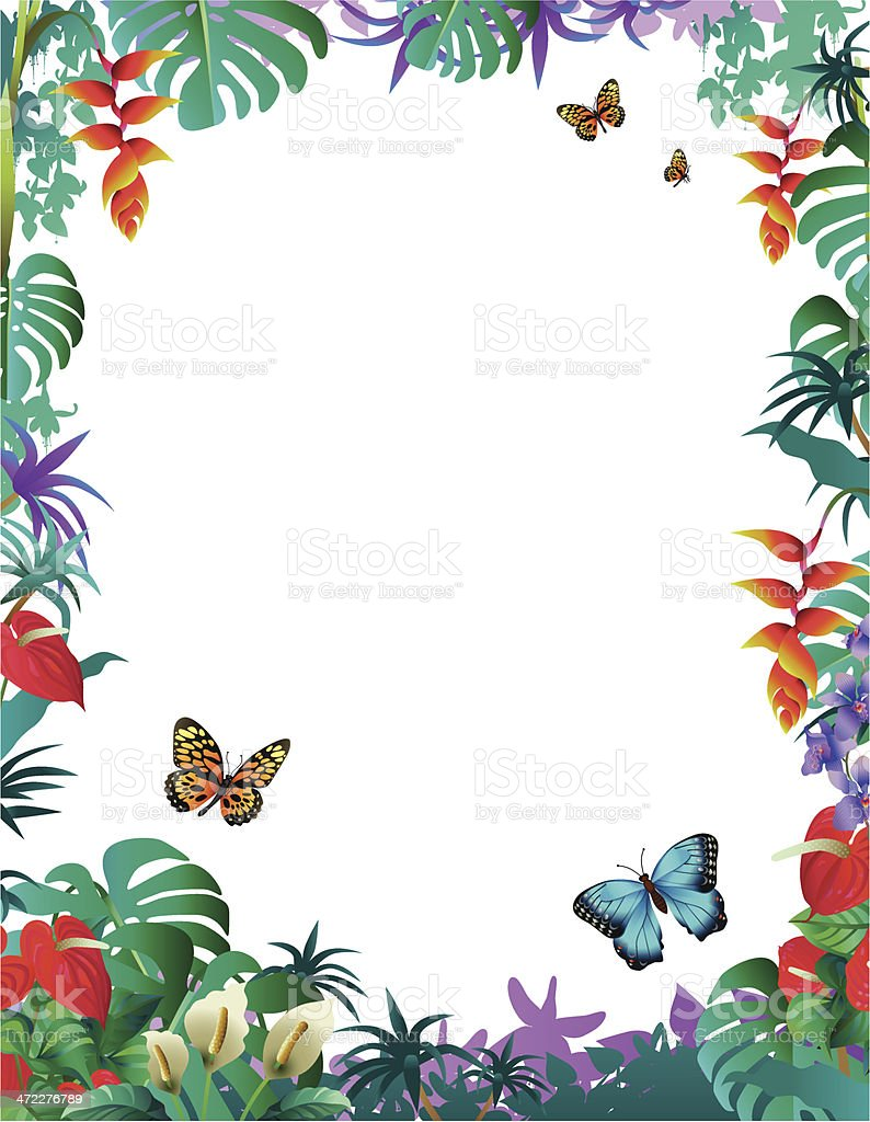 Flower and butterfly border clip art - photo#38
