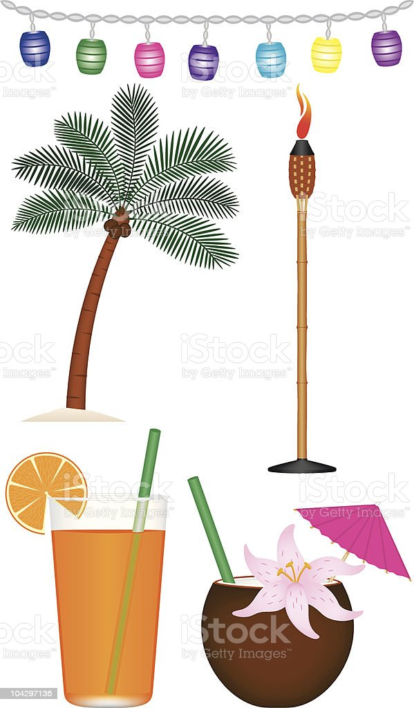 Tropical Collection vector art illustration