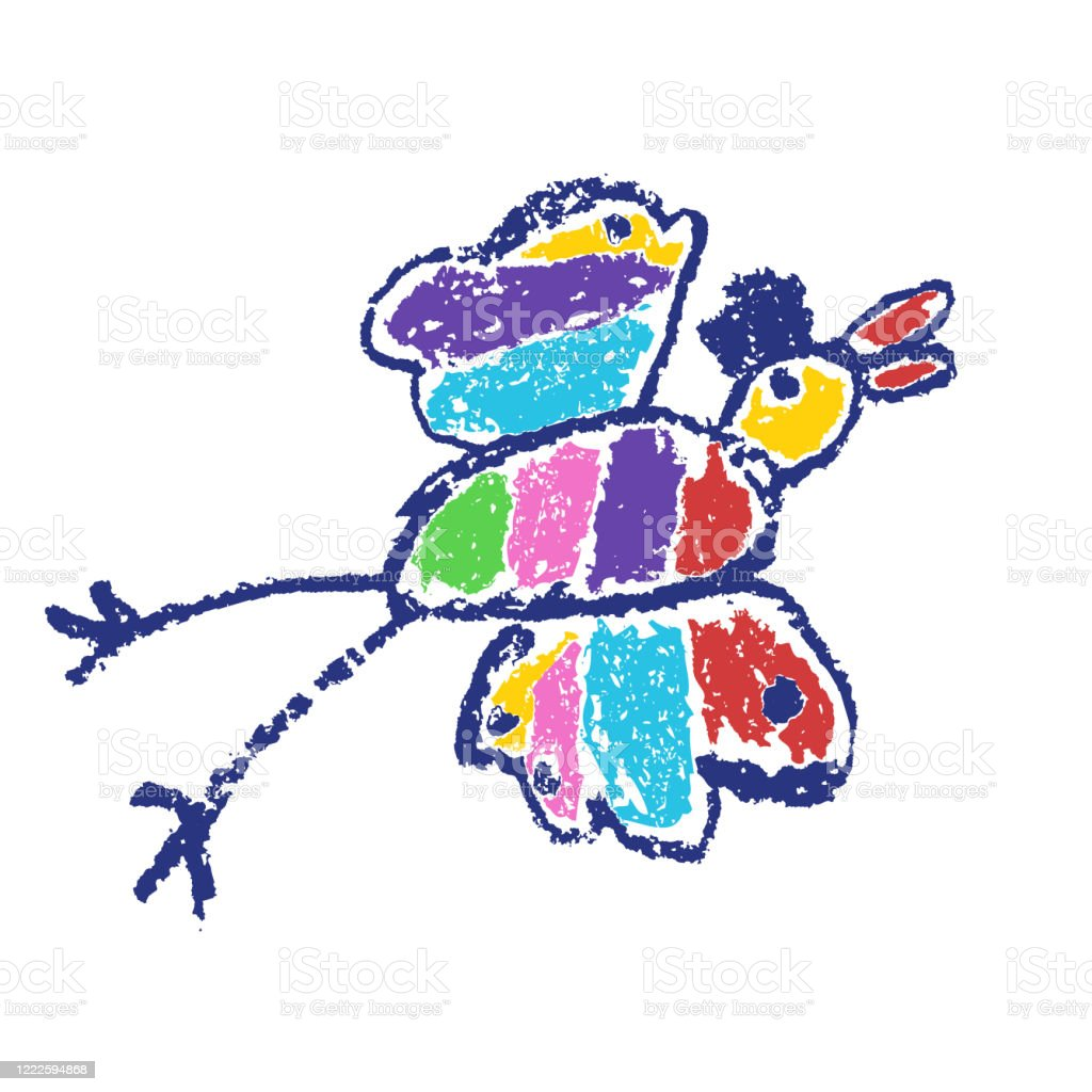 Tropical Crazy Fantastic Doodle Bird Animal Crayon Like Kids Hand Drawn Colorful Bright Funny Jungle Flying Monster Stock Illustration Download Image Now Istock