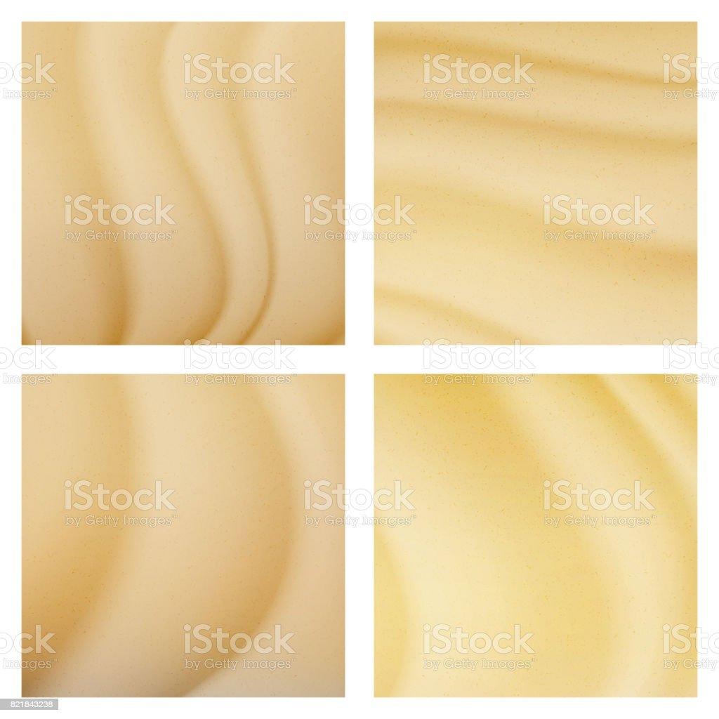 Ilustração de fundo Vector dunas deserto tropical. Vista superior de areia - ilustração de arte em vetor