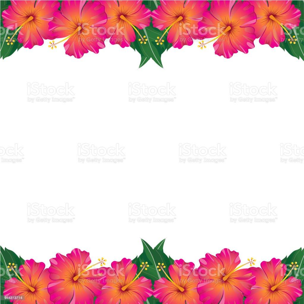自然の花のテキスト コピー スペースでトロピカルなデザイン