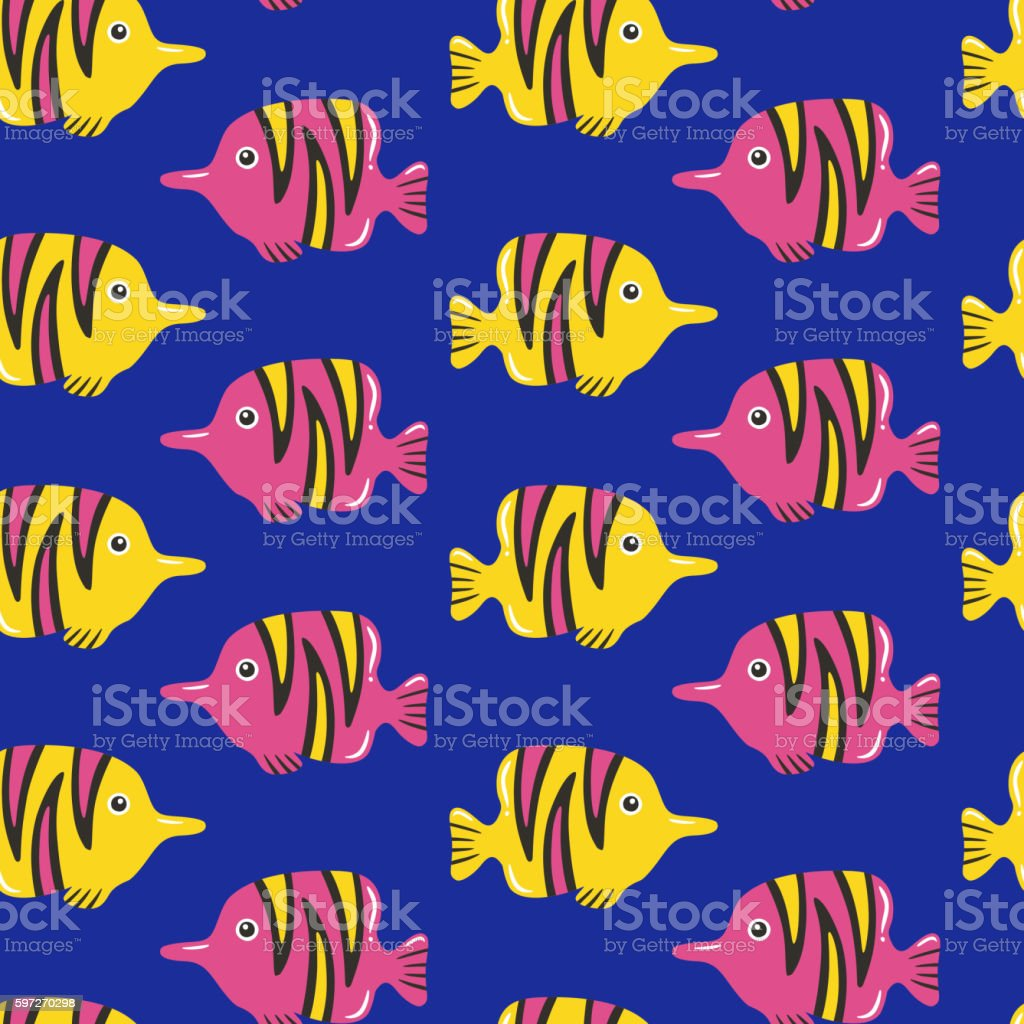Tropical fish seamless pattern royalty-free tropical fish seamless pattern stock vector art & more images of abstract
