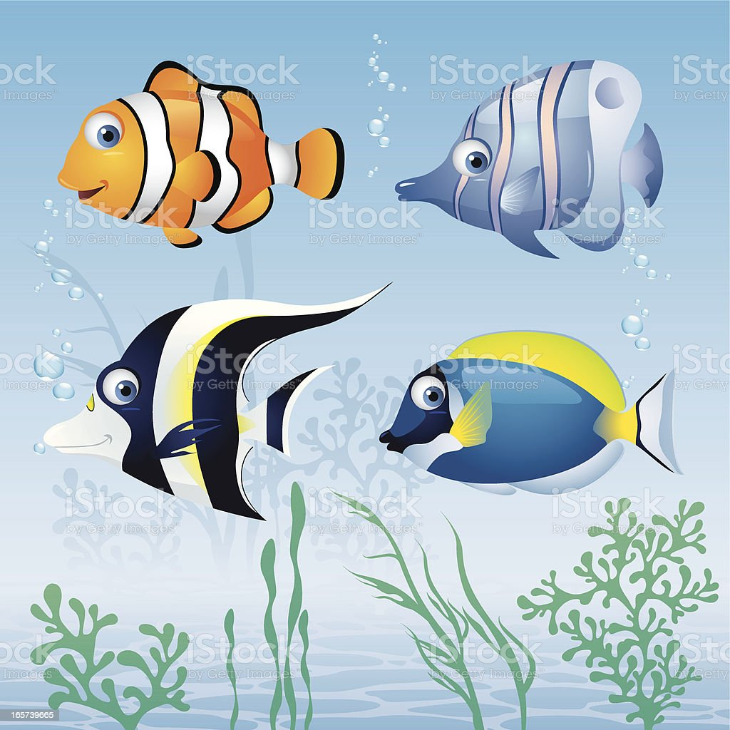 Tropical Fish royalty-free stock vector art