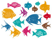 Tropical Fishes Vector Set