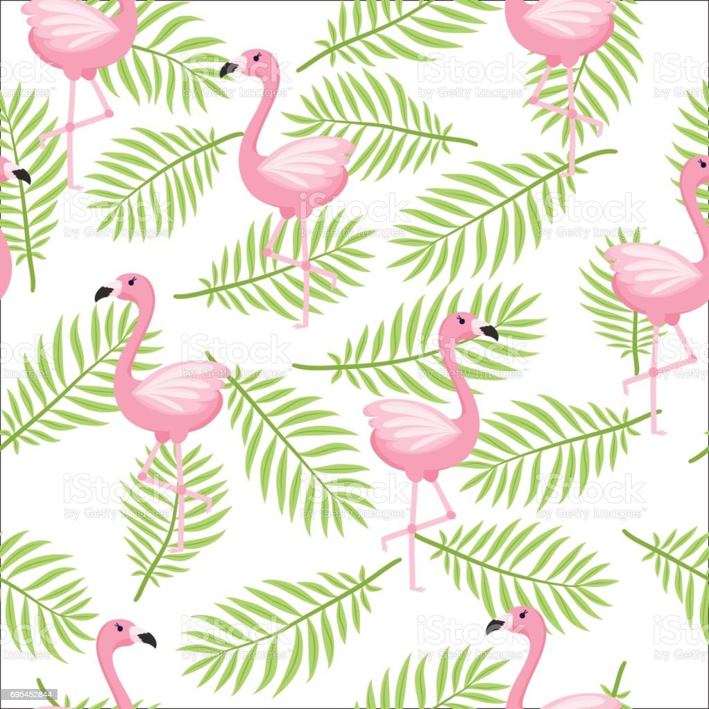 Tropical Flamingo Pattern Stock Vector Art & More Images