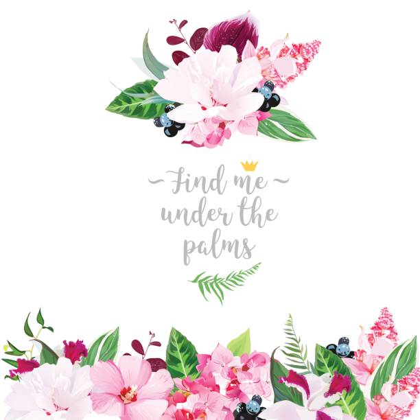Top 60 Purple Hibiscus Flower Clip Art Vector Graphics And
