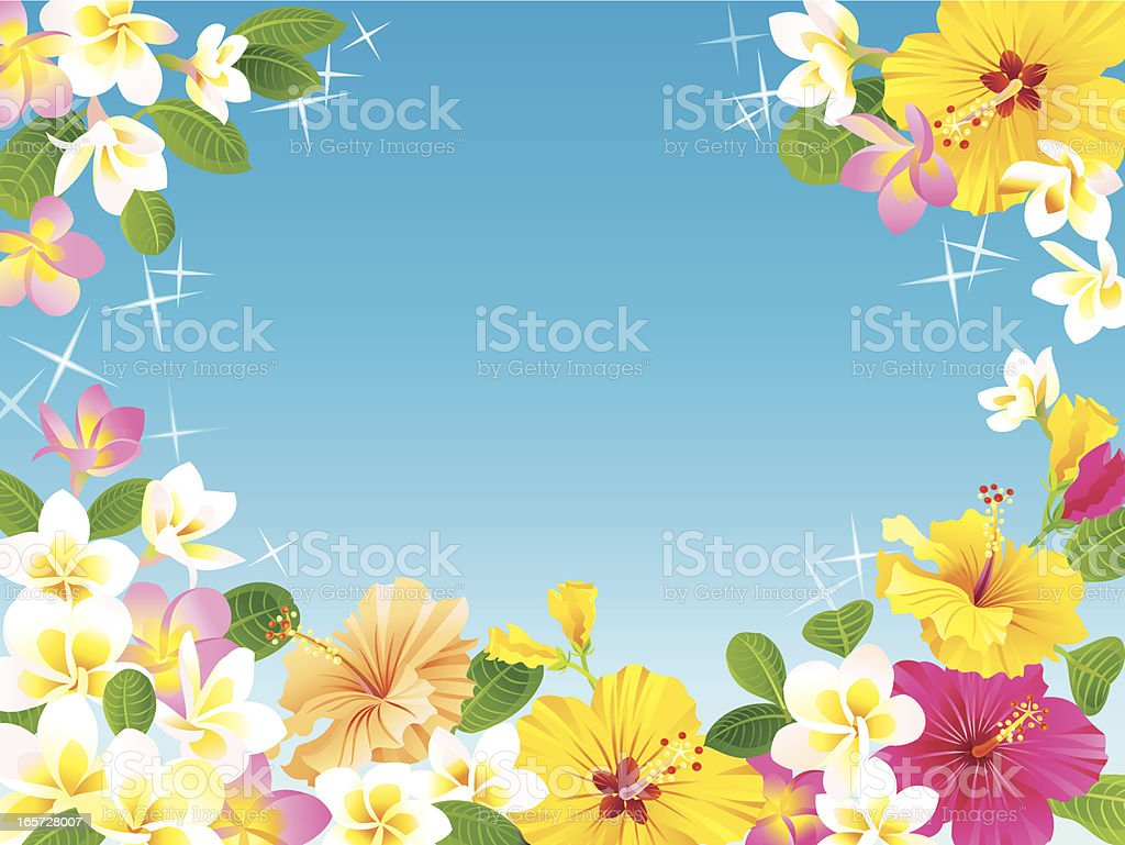 Tropical Floral Paradise royalty-free stock vector art
