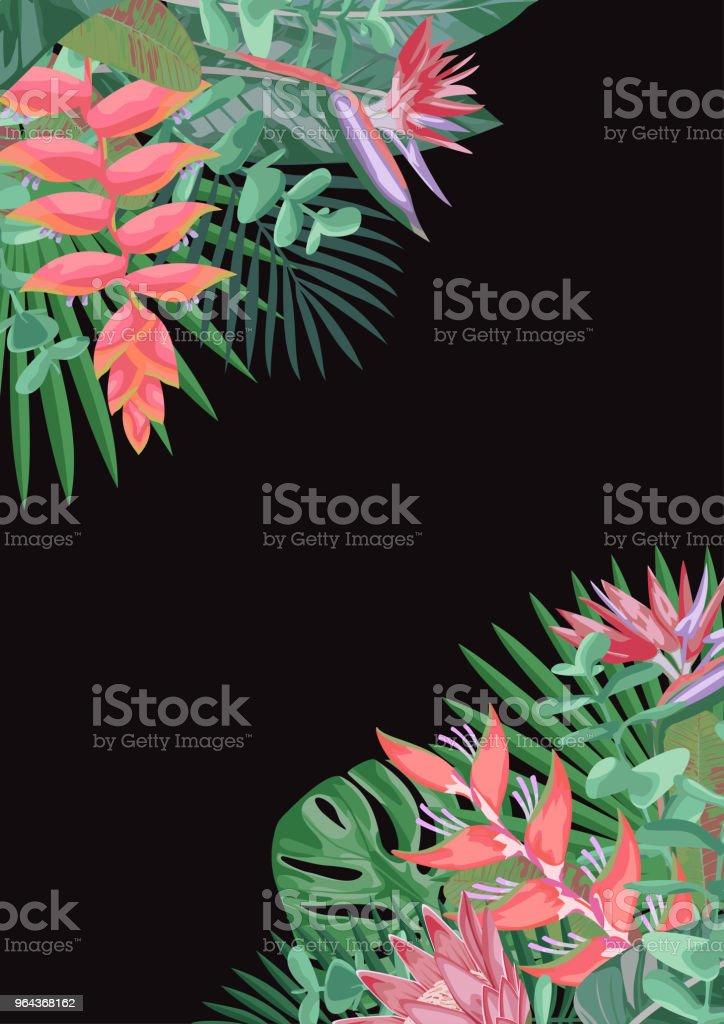 Tropische bloem hoekige achtergrond - Royalty-free Abstract vectorkunst