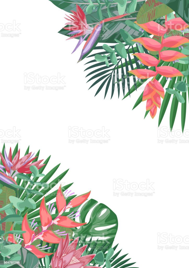 Tropical Flower Angular Background royalty-free tropical flower angular background stock vector art & more images of abstract