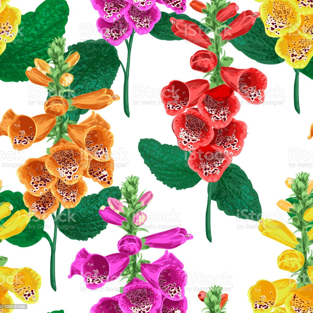 Tropical flowers seamless pattern summer floral background with tropical flowers seamless pattern summer floral background with tiger lily flower watercolor blooming design izmirmasajfo