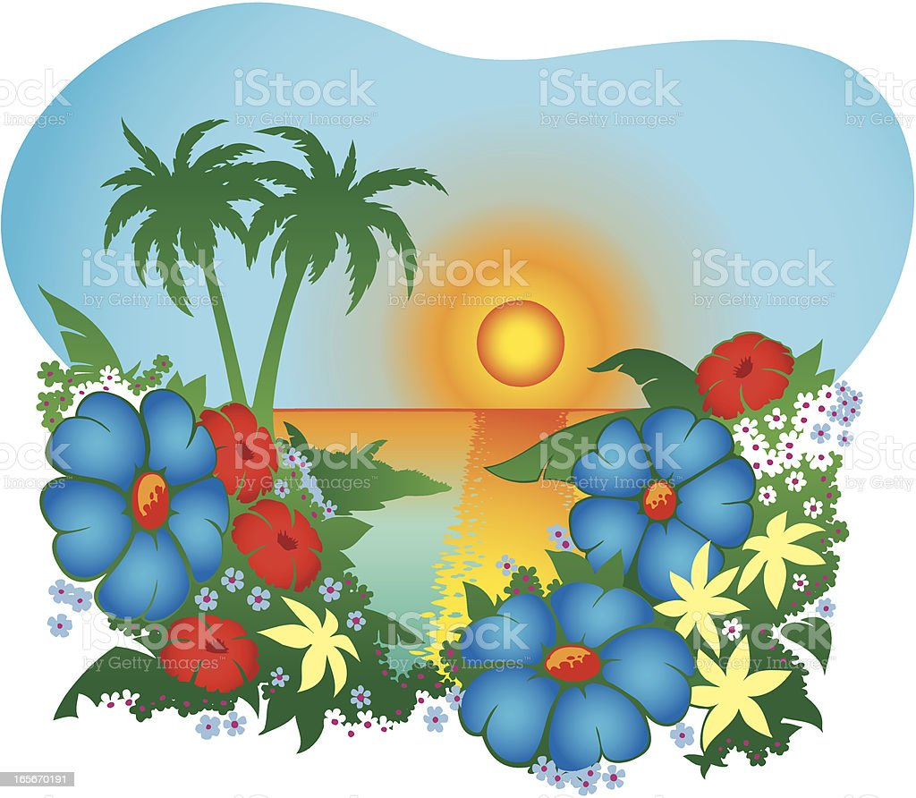 Tropical Flowers royalty-free tropical flowers stock vector art & more images of beach
