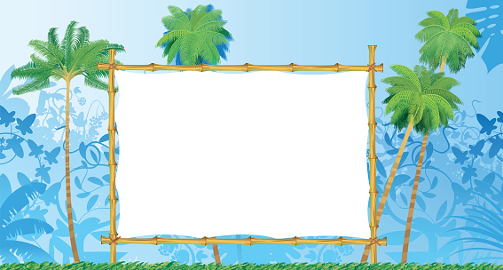 Tropical Forest and Bamboo Frame