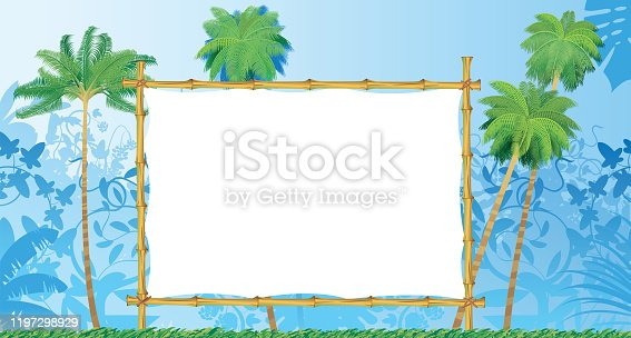 istock Tropical Forest and Bamboo Frame 1197298929