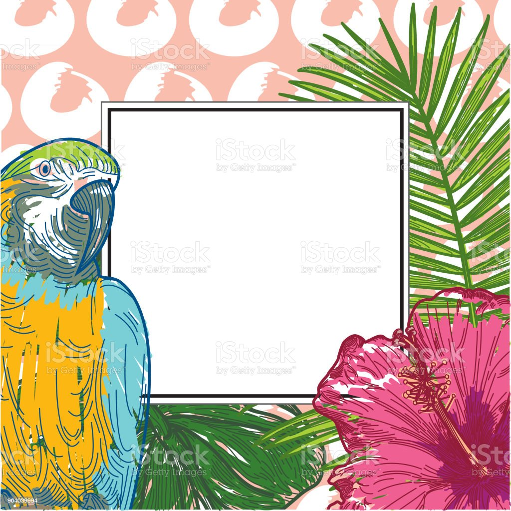 Tropical Frame with copyspace - Royalty-free Backgrounds stock vector