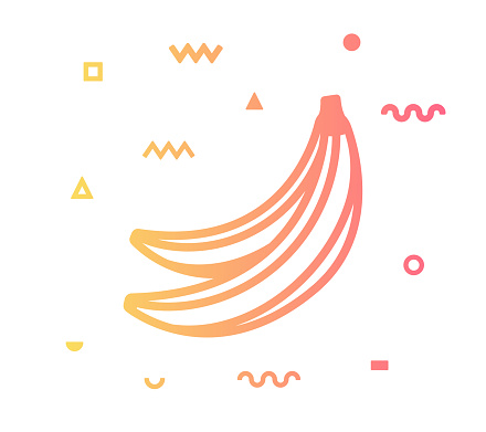 Tropical Fruit Line Style Icon Design