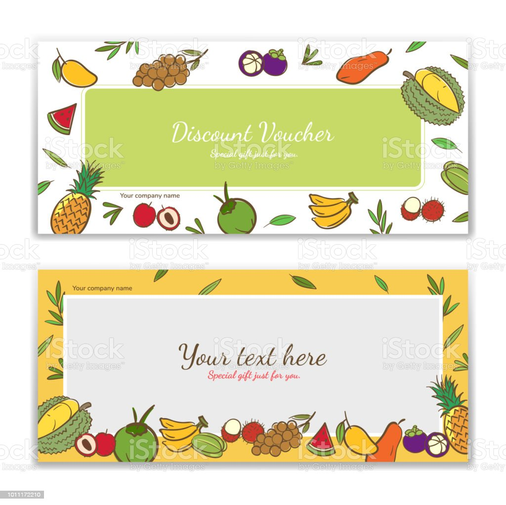 Tropical Fruits Theme Gift Certificate Voucher Gift Card Or Cash