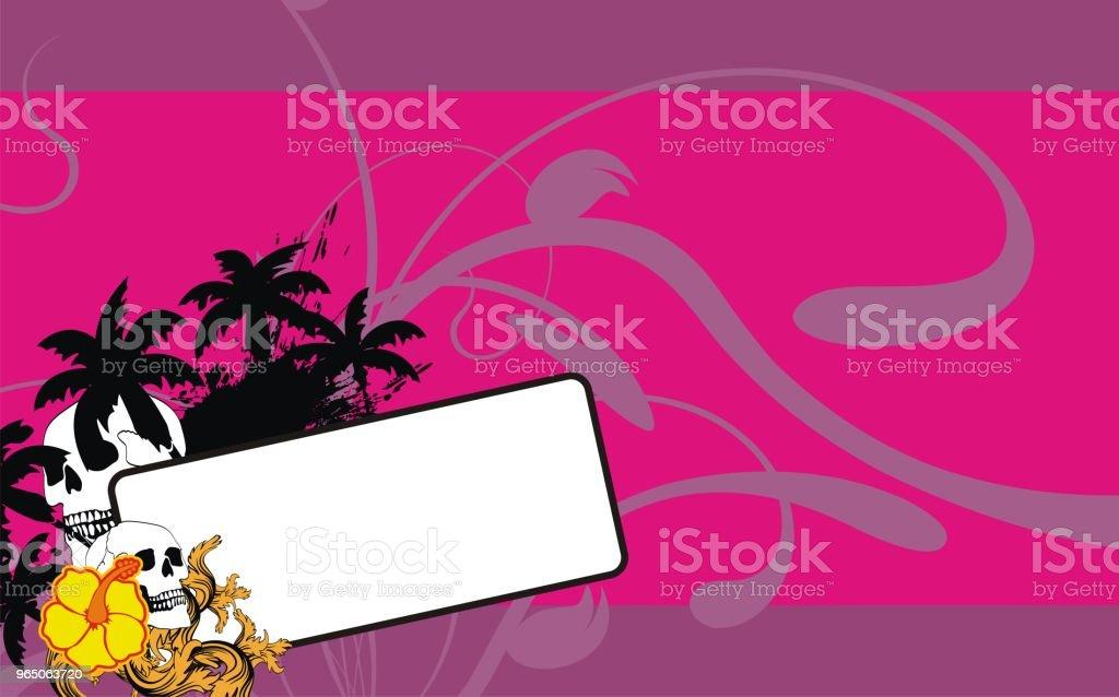 tropical hawaii skull copyspace background tropical hawaii skull copyspace background - stockowe grafiki wektorowe i więcej obrazów abstrakcja royalty-free