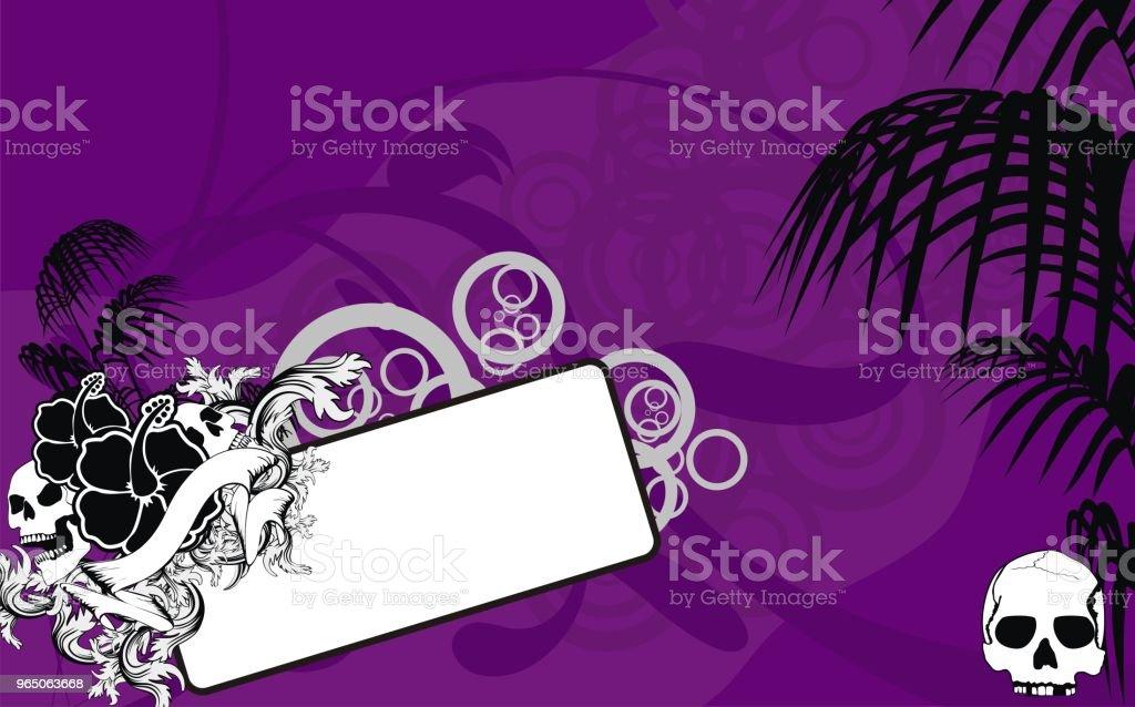 tropical hawaii skull copyspace background1 tropical hawaii skull copyspace background1 - stockowe grafiki wektorowe i więcej obrazów abstrakcja royalty-free