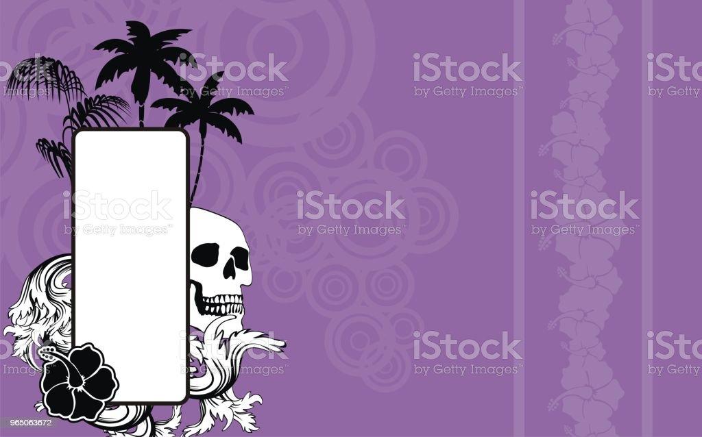 tropical hawaii skull copyspace background2 tropical hawaii skull copyspace background2 - stockowe grafiki wektorowe i więcej obrazów abstrakcja royalty-free
