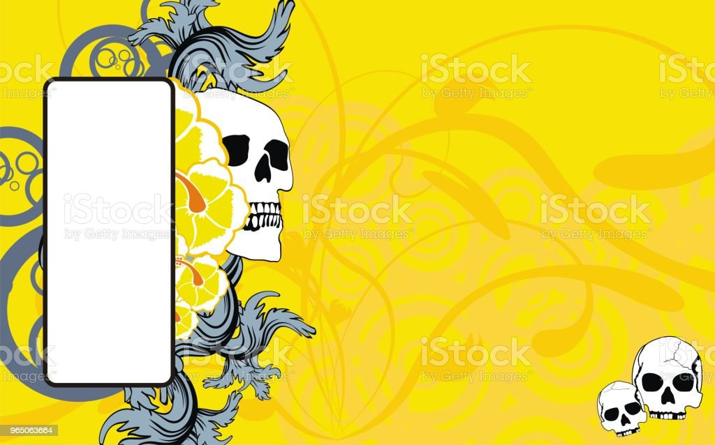tropical hawaii skull copyspace background3 royalty-free tropical hawaii skull copyspace background3 stock vector art & more images of abstract