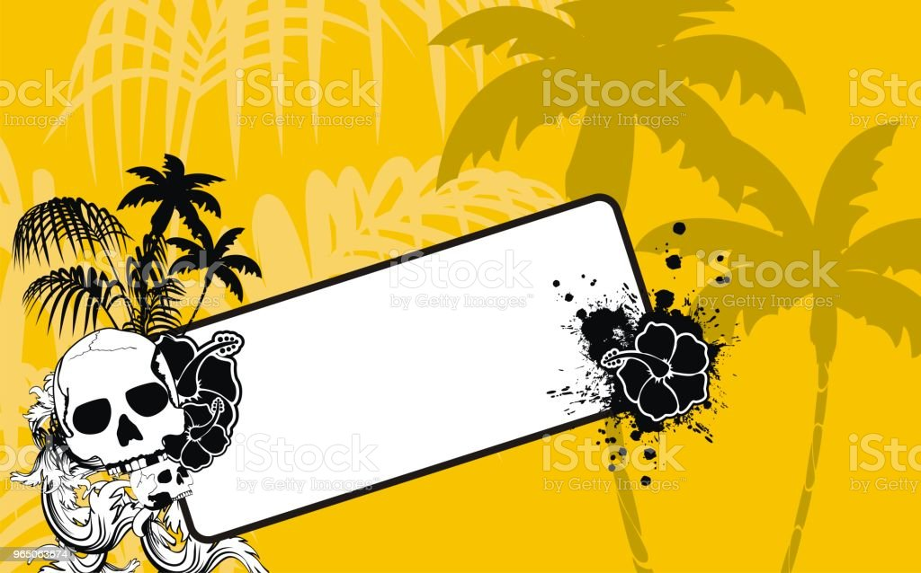 tropical hawaii skull copyspace background4 royalty-free tropical hawaii skull copyspace background4 stock vector art & more images of abstract