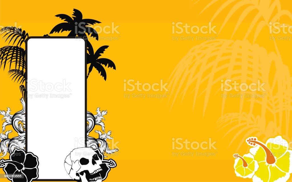 tropical hawaii skull copyspace background5 tropical hawaii skull copyspace background5 - stockowe grafiki wektorowe i więcej obrazów abstrakcja royalty-free
