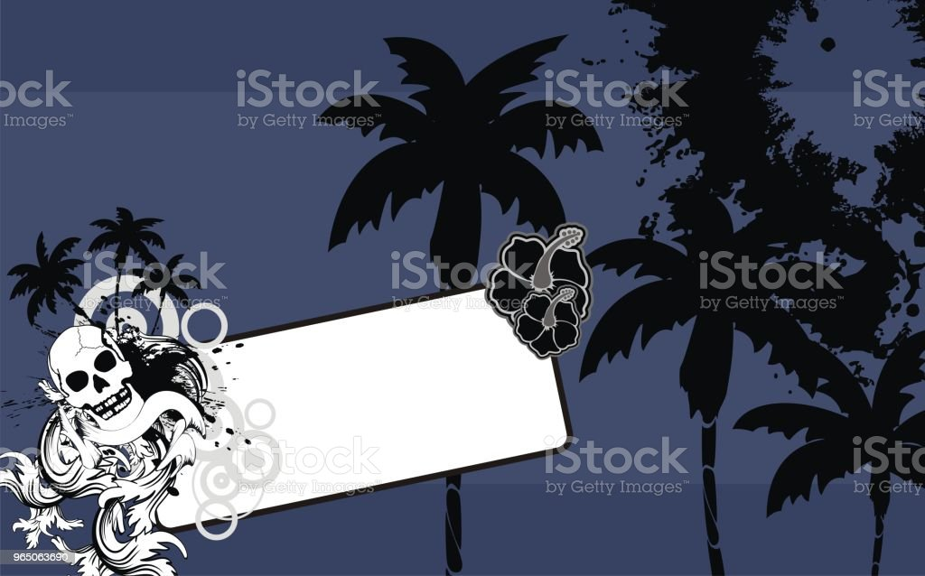 tropical hawaii skull copyspace background6 royalty-free tropical hawaii skull copyspace background6 stock vector art & more images of abstract