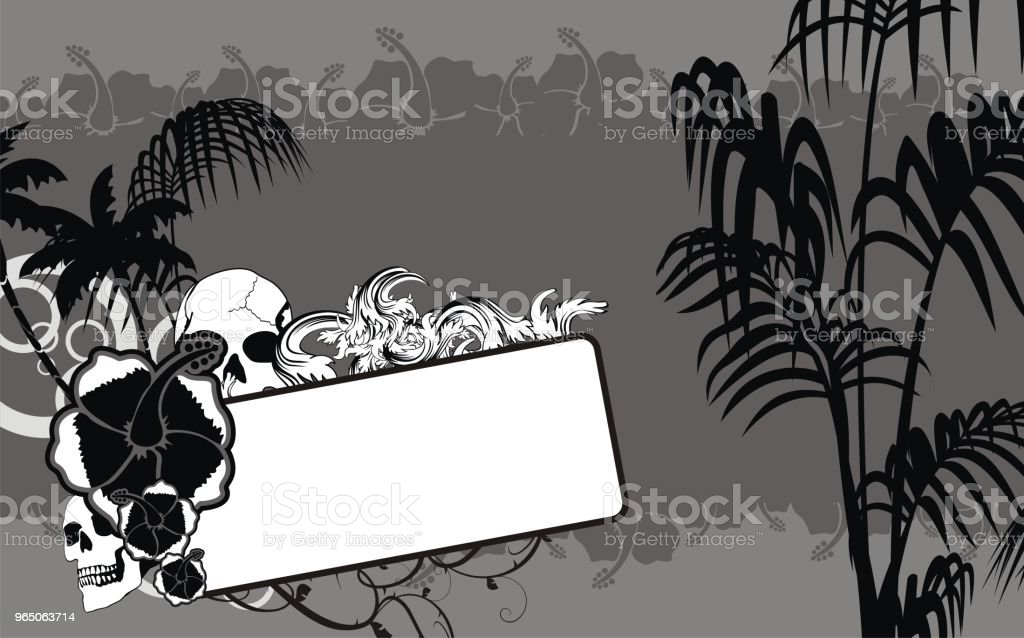 tropical hawaii skull copyspace background8 royalty-free tropical hawaii skull copyspace background8 stock vector art & more images of abstract