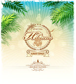 design of vector retro summer background.This file was recorded with adobe illustrator cs4 transparent.EPS 10 format.