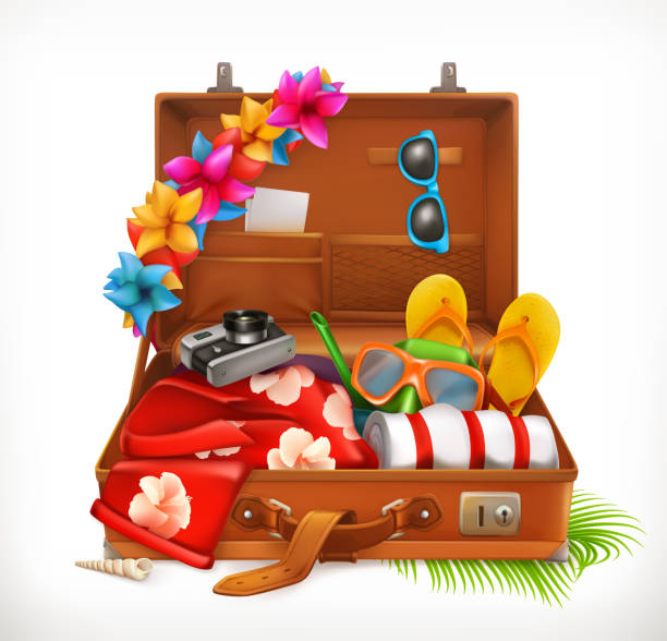 Top 60 Packing Suitcase Clip Art, Vector Graphics and ...
