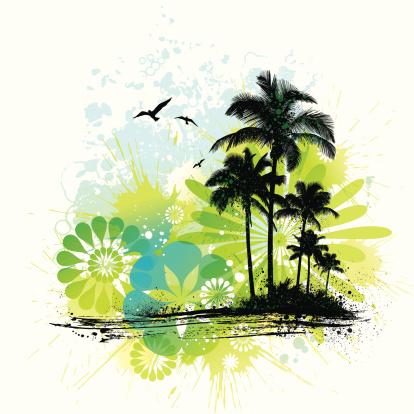 Tropical Island Grunge