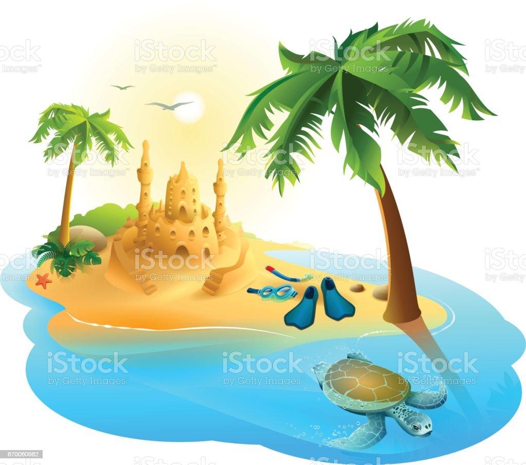 royalty free paradise island clip art vector images illustrations rh istockphoto com free tropical island clipart images tropical island clipart free