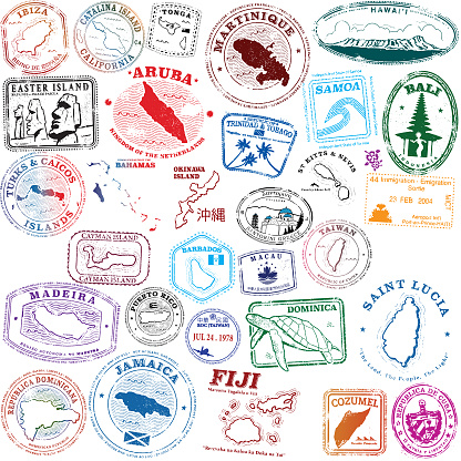 Tropical Island Stamps