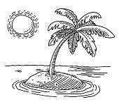 istock Tropical Island Sunshine Drawing 495305219