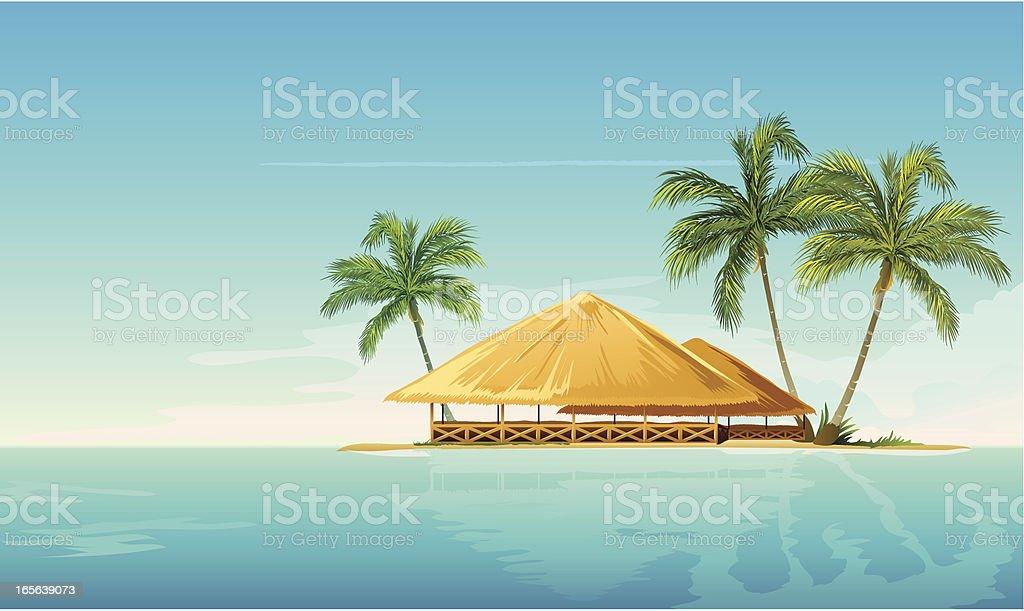 tropical island royalty-free stock vector art