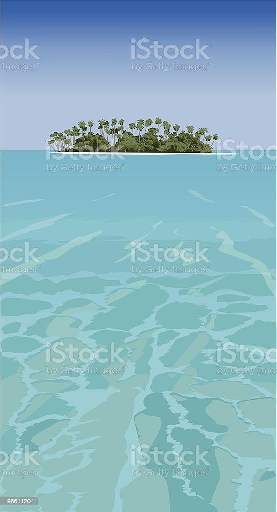 Tropical island - vector - Royalty-free Beach stock vector