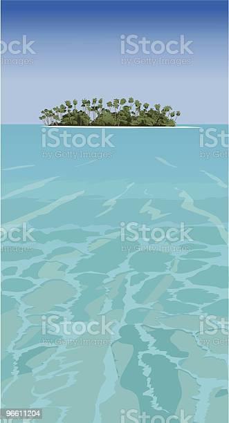 Tropical Island Vector-vektorgrafik och fler bilder på Avskildhet