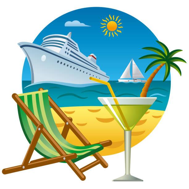 illustrations, cliparts, dessins animés et icônes de voyage tropical et resort - croisière